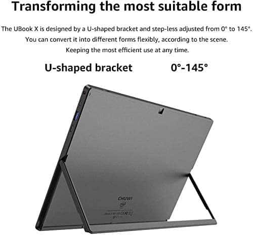 CHUWI UBook X Tablet vista posterior