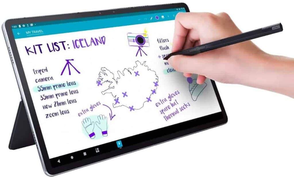 Foto de portada de articulo sobre como escribir en una tablet como si fuera un cuaderno