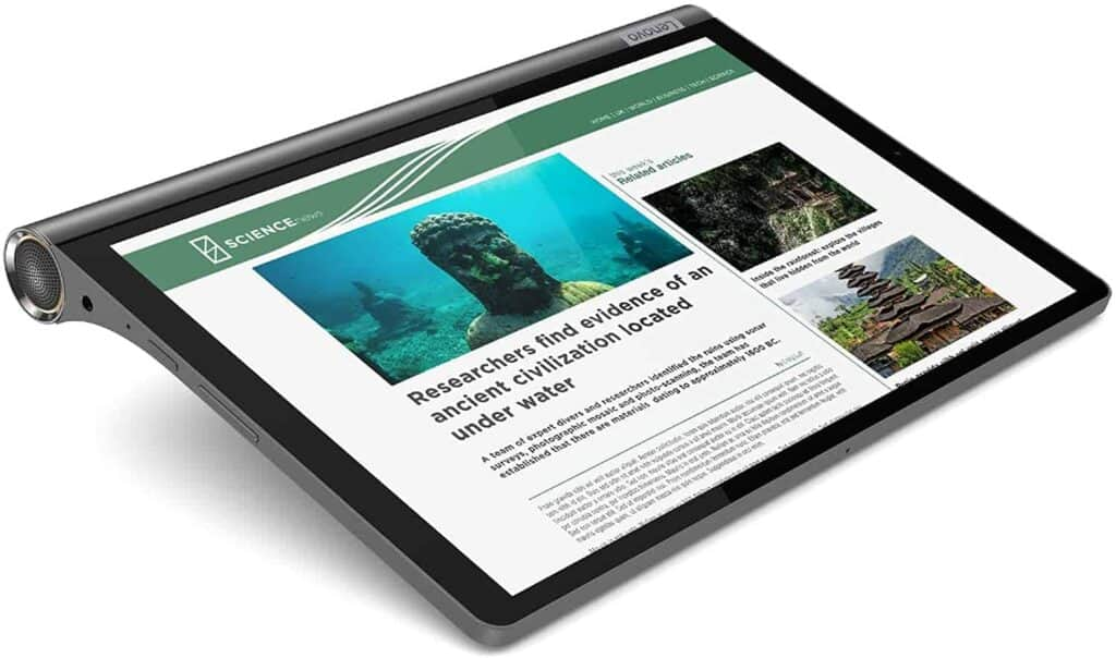tablet Lenovo Yoga Smart Tab en posicion plana
