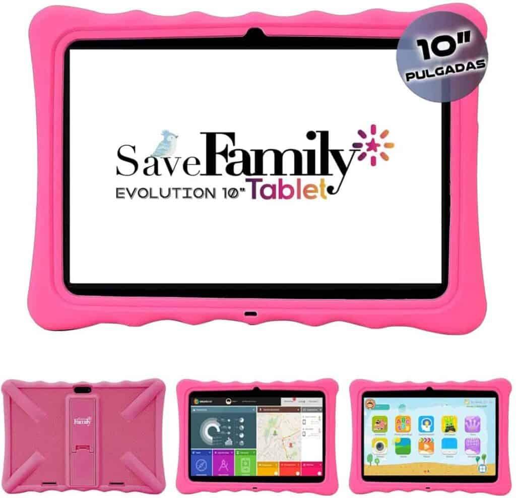tablet para niños y adolescentes con control parental marca savefamily modelo evolution