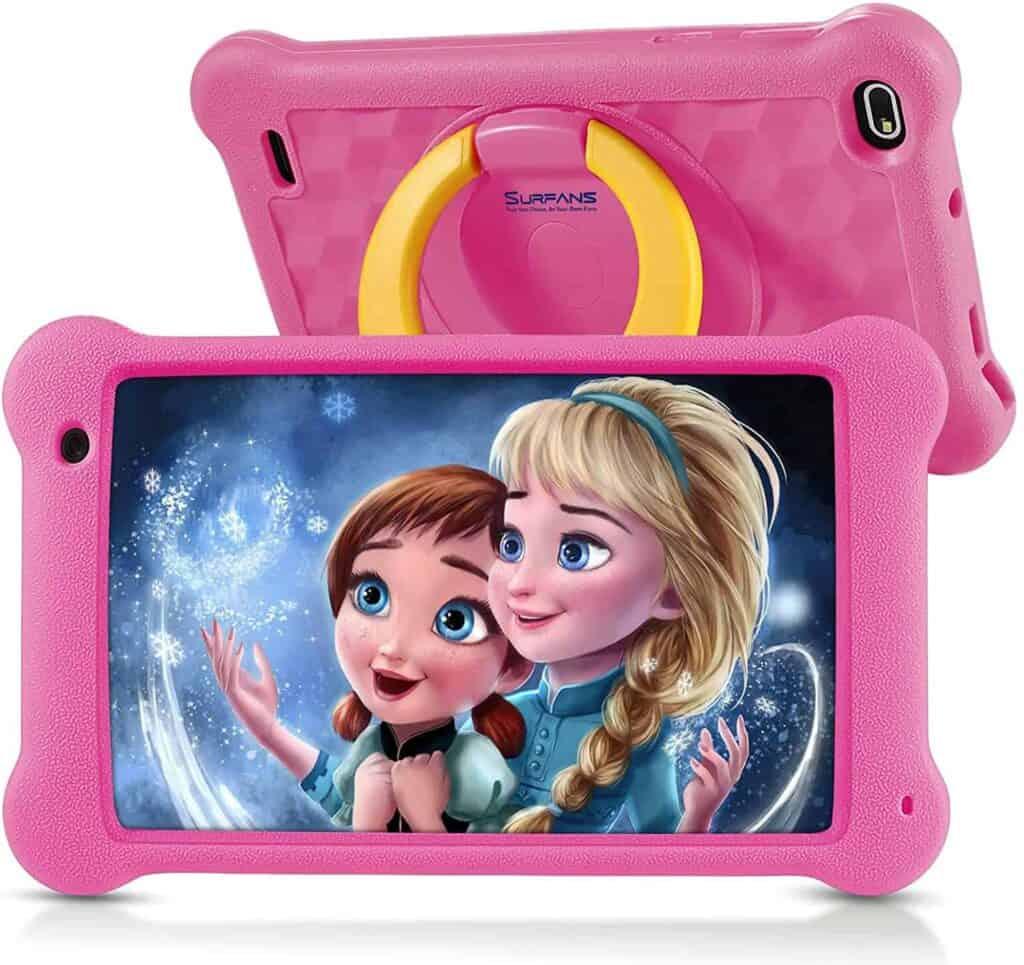 tablet surfans k7 para niños con funda protectora plástica