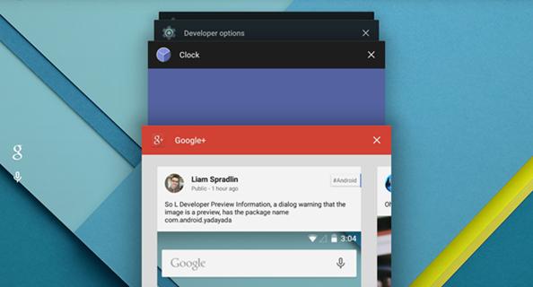 aplicaciones operando en segundo plano en una tablet