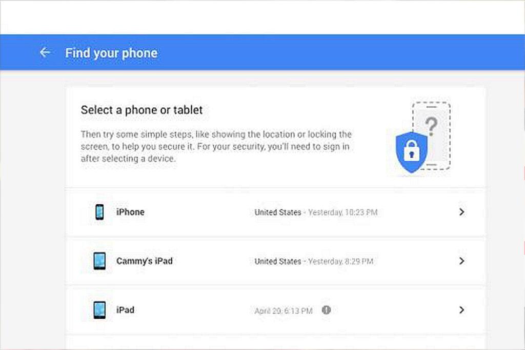 Aplicaci'on para encontrar dispositivo android