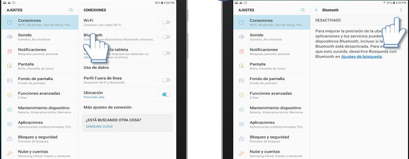 COnectar móvil a tablet por bluetooth