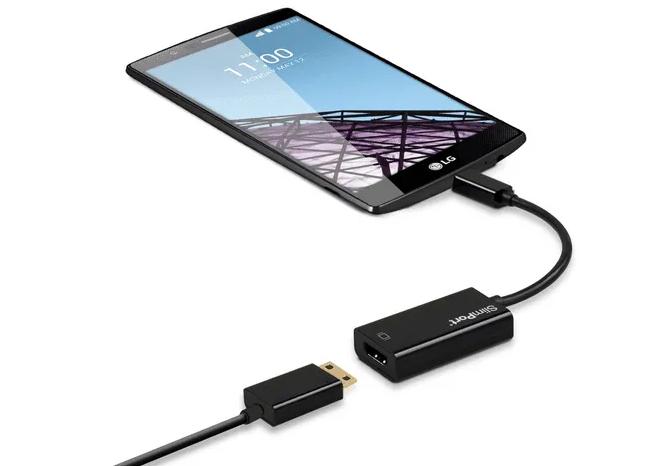 conectando un movil a tablet por cable