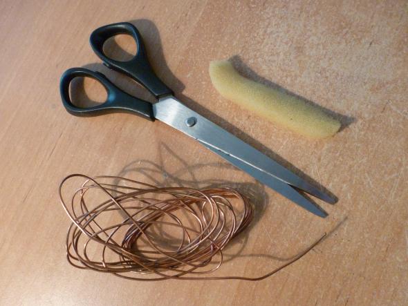 material para lapiz casero con cobre